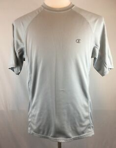 Champion Double Dry Fit Men's T-Shirt 100% Polyester Color Gray Size: Medium