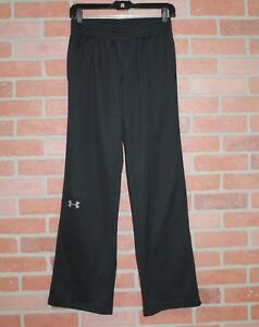 Under Armour Womens Semi Fitted All Season Gear Black Track Pants Size Small