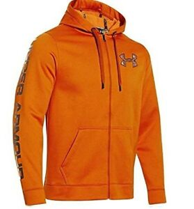 Under Armour Mens ColdGear Infrared Storm Caliber Full Zip Hooded Sweatshirt XL