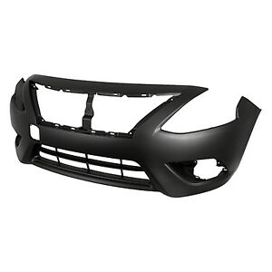 Replacement Bumper Cover for 15-17 Nissan Versa (Front) NI1000299PP
