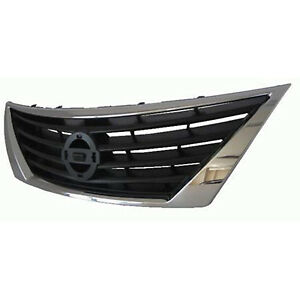 Replacement Grille for 12-14 Nissan Versa (Front) NI1200247OE
