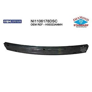 Replacement Bumper Cover Reinforcement for 12-16 Versa (Rear) NI1106178DSC