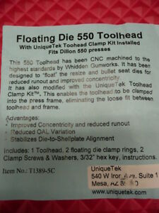 * NEW * Floating Die 550 Tool Head FITS DILLON 550 Presses by Unique Tek