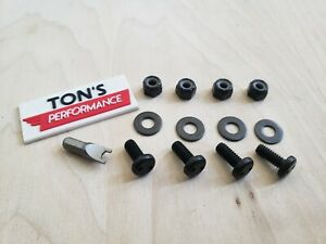 BLACK Anti Theft Security Stainless Motorcycle License Plate Frame Bolts Screws $8.88