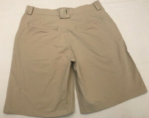 MINTY! Under Armour Performance 34R Mens Shorts Tan Beige Golf Casual Tennis