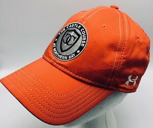 Under Armour The Castle Course At Northern Bay Cap Hat Golf Red Orange Wisconsin