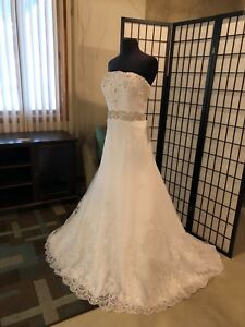 New White Wedding Dress Bridal Gown Size 12
