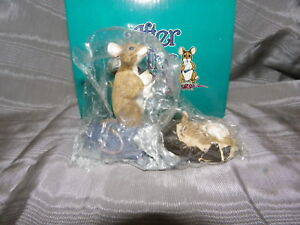 AFTER THE PARTY MOUSE FIGURINE~MICE ON CANDY BAR~LIMITED EDITION