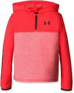 Under Armour Boys Threadborne 14 Zip Hood Red Small  8 Big Kids