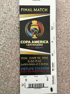 2016 COPA AMERICA CENTENARIO FINAL MATCH TICKET CHILE vs ARGENTINA