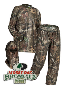 HECS Suit Deer Hunting Clothing - 3 Piece Shirt Pants Headcover  SM