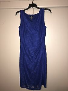 Lace Royal Blue Short Cocktail dress size 8