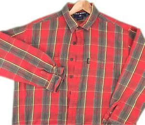 Polo Sport Ralph Lauren Men's Red Plaid Button Down Flannel Shirt Size XL