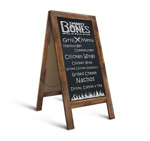 Rustic Magnetic A-Frame Chalkboard Sign / Extra Large 40
