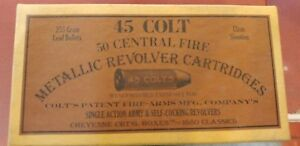 Vintage Colt 45 Central Fire Metallic Revolver Cartridges box