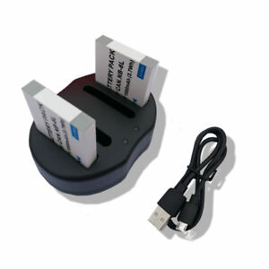 2X Battery NB-6L+charger FOR Canon PowerShot D10D20S90S95SX240 HSSX500 IS