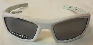 NWT $59 Under Armour Youth Ace sunglasses white with green 8600073-108801