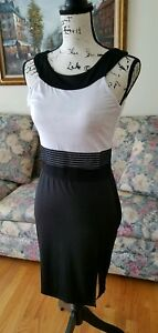 New Stylish Black and White Cocktail Dress