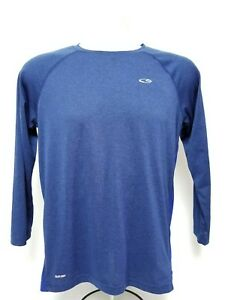 Youth Boys Champion Duo Dry Long Sleeve Running Fitness Large Blue 12-14 Shirt