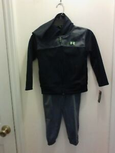 NWT $45 UNDER ARMOUR TODDLER BOY'S ACTIVE HOODIE AND PANT SET SIZE 3T