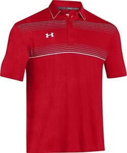 Under Armour Mens Conquest On-Field Polo Shirts X-Large RedRedWhite