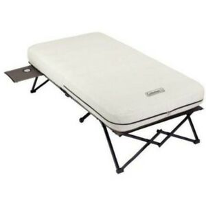 Air Bed Cot Folding Camping Coleman Twin Size Framed Sleeping Inflatable White