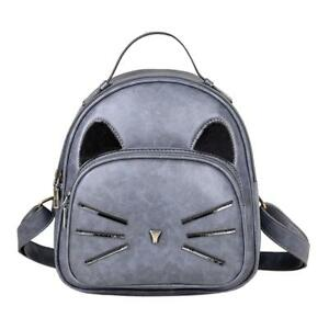 Women Backpack PU Leather Backpack School Bags for Teenage Girls Small Travel Ru