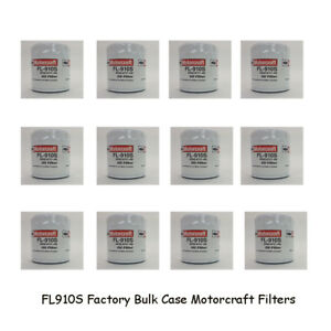 Motorcraft FL910S Oil Filters Case of 12 Bulk Pack