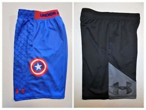 Youth Boys UNDER ARMOUR SHORTS Sport Play all Sizes-Click SIZE for list