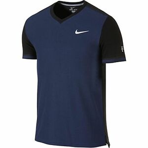 NWT Nike Federer RF Premier Tennis V Neck Shirt 685255-410 Nadal Medium  Large
