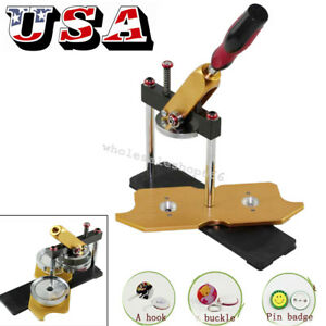 【USA】Badge Button Maker Machine Circle Cutter Metal Punch Tool Round 58mm Mold