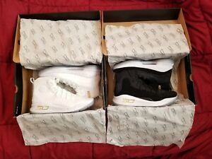 Under Armour Curry 4 (More Rings Pack) BlackGold & WhiteGold Size: 10.5