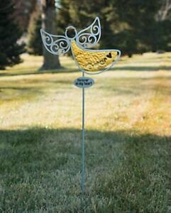 Religious Inspirational Angel Silhouette Lawn Garden Stake 14 1 2quot; x 37quot; Metal $22.95