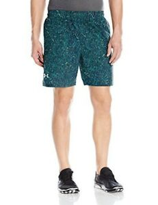 Under Armour Mens Launch Printed 7 ShortsBayou Blue (953)Reflective Large