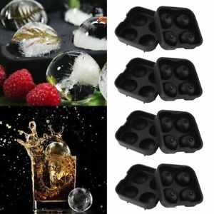 4 ICE Balls Maker Round Sphere Tray Mold Cube Whiskey Ball Cocktails Silicone KZ