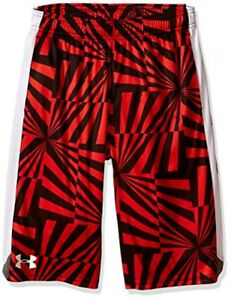 Under Armour Boys Eliminator Printed Shorts Risk Red (607)White Youth X-Large