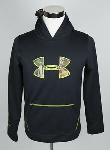 Under Armour Storm1 Loose Pullover Hoodie Youth's XL Black Camo Athletic EUC