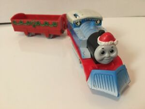 Trackmaster CHRISTMAS DELIVERY SNOW PLOW THOMAS Motorized Train Engine!