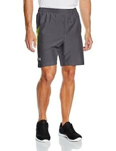 Under Armour Mens Launch Run Woven 7 Run Shorts GraphiteFlash Light Large