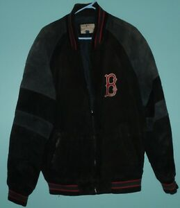 G-III Sports Carl Banks Boston Red Sox Lined Leather Jacket Coat Men's Size: L