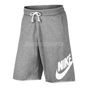 Nike AS Men NSW Shorts French Terry Sport Training Workout Grey White 836278-091