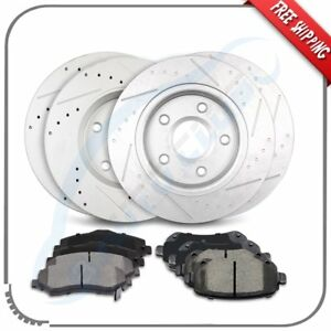 Front Rear Brake Rotors Ceramic Pad For 08 12 Chrysler Town Country Limited $215.92