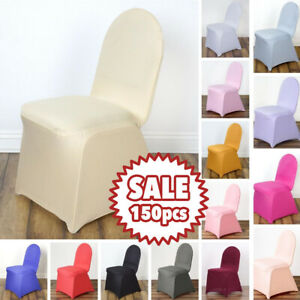 150 pcs SPANDEX STRETCHABLE CHAIR COVERS Wedding Party Ceremony Reception Supply