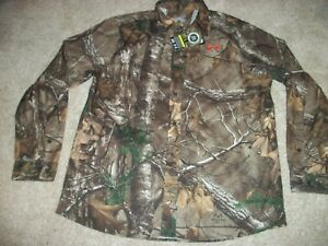 UNDER ARMOUR New NWT Mens XL Dress Shirt Button Up Camo Camouflage Realtree