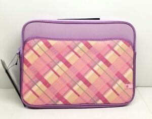 HP MINI PREPPY PINK SLEEVE NOTEBOOK SLEEVE 10.2quot; PINK PLAID