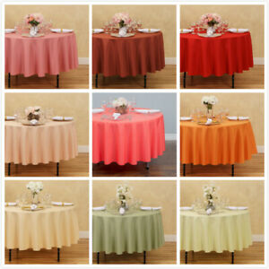 LinenTablecloth 90 in. Round Polyester Tablecloths 33 Colors Weddings amp; Events