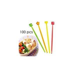 Japanese Bento Cute Food Pick 100 pcs Clear and Slim