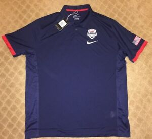 USA Basketball USAB Nike Polo Golf Shirt Size XXL Dri-Fit New