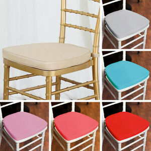 100 pcs POLYESTER CUSHIONS for CHIAVARI CHAIR Wedding Ceremony Decorations SALE