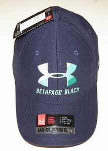 *Under Armour UA Classic Fit Beth Page Black Golf Hat Cap Blue Youth